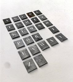 French ZINC Metal STENCILS Letter / Alphabet by FrenchMarketFinds, €48.00