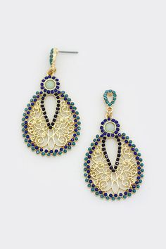 Sabine Earrings in Midnight | Women's Clothes, Casual Dresses, Fashion Earrings & Accessories | Emma Stine Limited