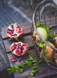 I can't wait till ours ripens! | Pomegranate Juice from White On Rice Couple