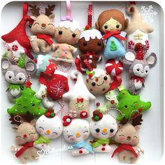 Christmas decoration, ornament, gingerbread man, girl, cupcake, snowman