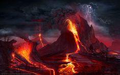 vulkanlandschaft | The Yellowstone Armageddon by bergamind on DeviantArt