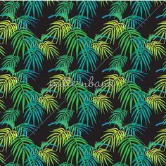 Beachside Blooms_Dark Blue by Nicola Collins - Hand painted and digital floral with a British beach feel. The dark blue background with white stripes gives the British Beaches, Dark Blue Background, Interior Inspiration, The Darkest, Pattern Design, Plant Leaves, Tropical, Bloom, Stripes