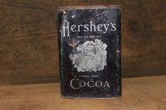 Antique Hershey's Cocoa Tin Can Vintage Food Advertising