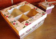 Cajas de te en madera -decoradas en decoupage