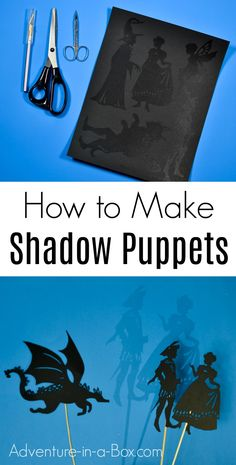 Learn how to make shadow puppets and start your own shadow puppet theatre at home! Fairy Tale Activities, Craft Activities For Kids, Shadow Art, Shadow Play, Puppetry Theatre, Puppet Costume, Fairy Tale Crafts, Shadow Theatre, Puppets For Kids