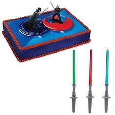 Star Wars Light Saber Cake Kit with 24 Light Saber Picks