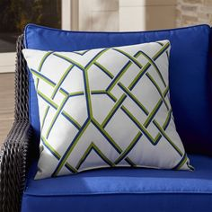"Trellis 20"" Sq. Outdoor Pillow | Crate and Barrel"