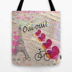 Oui Oui Tote Bag by Catherine Holcombe - $22.00