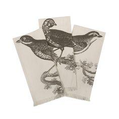 Illustrated Birds Hand Towels | dotandbo.com