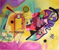 Giallo, rosso e blu   (V. Kandinskij - 1925) maggior esponente dell'astrattismo lirico, ovvero colori a macchie e suggezione