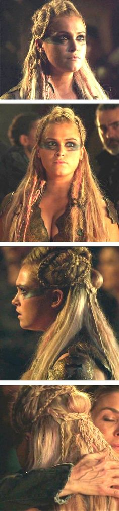 Hair Tips & Tutorials Clarke The 100, Lexa Y Clarke, Viking Braids, Viking Hair, Medieval Hair, Hairstyle Look, Cute Hairstyles, Braided Hairstyles, Viking Makeup