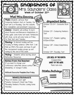 Maybe next year I'll try to put a weekly newsletter out. I just wish prints didn't have a limit and paper/ink didn't cost any money! Maybe if I have a class website, it will fit nicely on there! :)