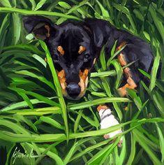 "Daily Paintworks - ""Zac"" - Original Fine Art for Sale - © Karin Jurick"