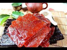 How To Make Chinese Pork Jerky / Beef Jerky 蜜汁豬肉乾 牛肉乾 Bak Kwa / Barbecued Pork Jerky - YouTube