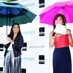 #TBT Fashion NoVA special guests @NainaSingla and @annieyufox5 | They rocked the rainy stage & made it an event to remember