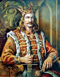 Stephen the Great – first cousin of Vlad Dracula, Moldavia's ruling prince for 47 years. Won 46 battles and lost 2 battles. Defended Moldavia against neighboring empires and won European fame for resistance against Ottomans. Vlad Der Pfähler, Vlad El Empalador, History Of Romania, Romania People, Vlad The Impaler, Historia Universal, Count Dracula, The Beautiful Country, Folklore