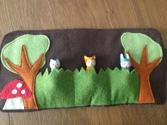 Our Forest Friends Roll Up and Play Mat with three Forest Friends! This set includes Grey Owl, Red Fox and Grey Bunny- they fit snugly into three