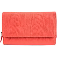 Mundi Big Fat Hiss Wallet ($20) ❤ liked on Polyvore featuring bags, wallets, red bag, flap bag, flap wallet, mundi bags and front pocket wallet