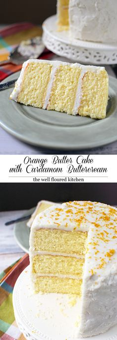 Orange Butter Cake with Cardamom Frosting