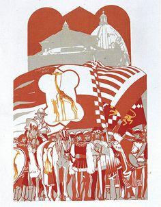 Imperiale Contrada della Giraffa - Siena - Duilio Cambellotti 1932 #TuscanyAgriturismoGiratola