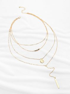 Shop Crystal And Bar Multi-layer Chain Necklace online. SheIn offers Crystal And Bar Multi-layer Chain Necklace & more to fit your fashionable needs.