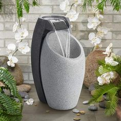 Indoor Wall Fountains, Stone Fountains, Indoor Fountain, Garden Fountains, Water Fountains, Outdoor Fountains, Modern Fountain, Diy Fountain, Fountain Design