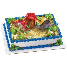 Absolutely Prehistoric| Prehistoric Party| Party Goods: Dinosaur Deco Cake Kit Each