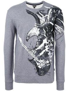 JUST CAVALLI eagle print sweatshirt. #justcavalli #cloth #sweatshirt