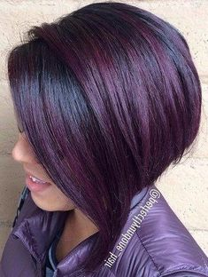 Purple Hair Color Ideas for Short Hair Purple Hair Color Ideas for Short Hair are in right now! Tell me, what can be better shade of purple hair colo. - My Website 2020 Short Purple Hair, Black Hair Ombre, Best Ombre Hair, Short Brown Hair, Hair Color Purple, Light Brown Hair, Dark Hair, Blonde Hair, Hair Colors