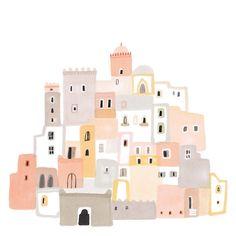 House Illustration Pattern Inspiration Ideas For 2019 Art And Illustration, Building Illustration, Illustrations, Grafik Design, Art Inspo, Art Drawings, Wall Drawing, House Drawing, Design Art