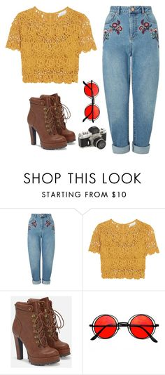 """""""Hold Up"""" by live-laugh-love-btr ❤ liked on Polyvore featuring Miss Selfridge, Miguelina, JustFab and Retrò"""