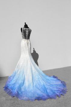 Bridal Gowns Colored by Taylor Ann Art - Gallery Cute Prom Dresses, Grad Dresses, White Wedding Dresses, Pretty Dresses, Beautiful Dresses, Wedding Gowns, Casual Dresses, Formal Dresses, Ombre Wedding Dress