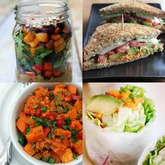 32 Vegan Lunches You Can Take to Work | I will have to make some alterations to be more balanced with protein and net carbs to not exceed my mealtime limits
