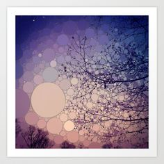 I love the colors and the circle style that Olivia Joy StClaire creates in all of her pieces!.  Eventide Art Print  - $19.00