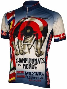 1935 World Championship Cycling Jersey by Retro Penny Farthing 9251ee393