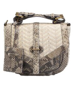 Look what I found on #zulily! Natural Snake & Raffia 797 Leather Crossbody Bag #zulilyfinds
