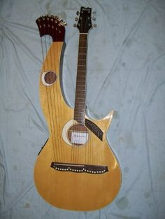 Harp guitar, double neck Maestro
