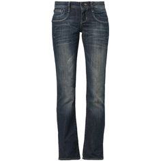 LTB VALERIE Bootcut jeans denim (175 BRL) ❤ liked on Polyvore featuring jeans, dark blue, boot-cut jeans, low bootcut jeans, low jeans, boot cut jeans and denim jeans