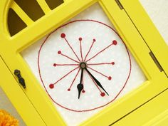 Cute embroidered clock face