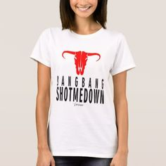 Bang Bang Shot Me Down & Bull by Vimago T-Shirt - Saint Valentine's Day gift idea couple love girlfriend boyfriend design
