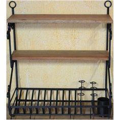 Paneleiro madeira c/ ferro- 2777 #arte #moveis #rusticos - www.artemoveisrusticos.com.br