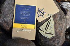 Ahoy matey . . . Set sail with this beautiful nautical themed invitation. http://invitationbasket.com/ {Sponsored}