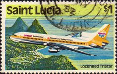St Lucia 1980 Transport SG 544 Aircraft Fine Used SG 544 Scott 512 Other Commonwealth stamps here