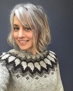 Back home in Brooklyn now, but I'm glad to be back in the land of daylight! Plus, now I get to wear my beautiful Icelandic sweater and not feel like a tourist dweeb. #iceland #icelandicwool #scratchybutbeautiful  #grayhairdontcare #authorsofinstagram