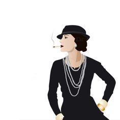 Paris Chanel - Illustration - Retro Art - Digital Collage - Art Print - Wall Decor - Coco Chanel (22.00 USD) by DigitalDraft