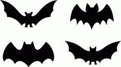 Silhouette Design Store - View Design #65443: bat halloween set