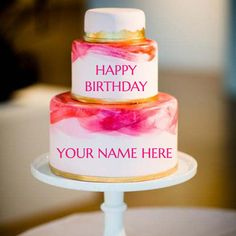 Write name on layered birthday cake for friend happy birthday write name on happy birthday rose cake onlineine wishe your best friend happy birthdayine wishes your best friend birthday cake images m4hsunfo