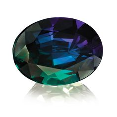 Alexandrite is a gem variety of the mineral chrysoberyl discovered in 1830 in Czarist Russia. Since the old Russian imperial colors are red and green, it was named after Czar Alexander II on the occasion of his coming of age. Minerals And Gemstones, Crystals Minerals, Rocks And Minerals, Stones And Crystals, Gem Stones, Alexandrite Jewelry, Gemstone Jewelry, June Gemstone, Rocks And Gems