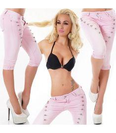 VAQUERO PIRATA BOTONES Bikinis, Swimwear, Capri Pants, Retro, Fashion, Stretch Fabric, Short Shorts, Pirates, Buttons