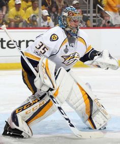 Photo galleries featuring the best action shots from NHL game action. Hockey Goalie, Field Hockey, Hockey Players, Tennis Players, Ice Hockey, Pittsburgh Pa, Pittsburgh Penguins, Nhl Stanley Cup Finals, Predators Hockey